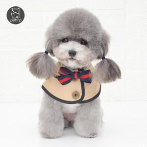 Trendy Bow Knot Süsleme Pet bandanas 2 Renkler Güzel Charm Evcil Tükürük Havlu Parti Ziyafet Sevimli Schnauzer Teddy Eşarp Aksesuarları