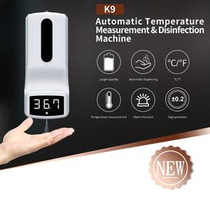 K9 Цифровой инфракрасный термометр Автоматическое жидкое мыло Диспенсер для мытья бесплатных санитарных машин ЖК-дисплей без контактного термометра