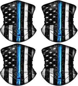 4-قطعة العلم الأمريكي الحجاب بالاكلافا خوذة الحجاب، للجنسين، الحماية من الشمس، يمكن إعادة استخدامها وشاح نصف وجها، وركوب رباط العنق