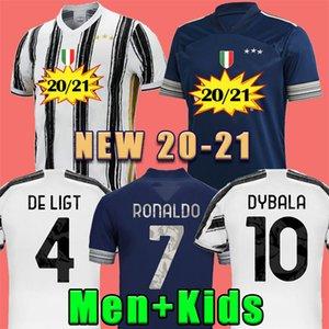 20 21 RONALDO JUVENTUS Fußball-Jersey-2020 JUVE 2021 Home away vierte DE LIGT Dybala HIGUAIN 4. PALACE Fußball Shirts Herren Kinder Kit Uniformen