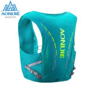 Pelle AONIJIE C942 avanzata zaino Hydration Pack Bag Zaino cablaggio della maglia vescica dell'acqua escursione del campeggio esecuzione Marathon Race