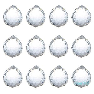 40мм Crystal Ball Призма хрусталь мяч люстра Украшение висячие граненый Prism шары бисер Свадьба домашний декор