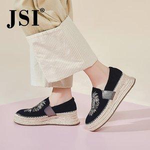 JSI 2020 Frühlings-neue Entwurfs-Mode-Damen flache Schuhe Bequeme Lion-Muster-Frauen-beiläufige Schuh JO391