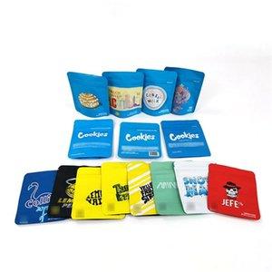 Risas gomosa olor a prueba de la bolsa del bolso Worms Galletas Mylar pequeñas como bolsitas de almacenamiento resellable Moda Berry Pie Jefe Jefe de embalaje de alta calidad B2