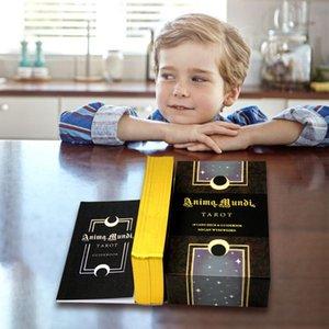 Tarot Anima Oracle 78 Hojas Serie Serie cartas del Tarot se sembraron Mundi adivinación tarot oro posters De yxlLyk xhlove