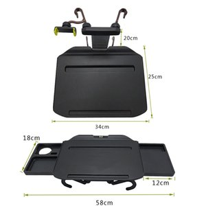 FreeshippingCar Table Retractable Folding Tray for Laptop Phone Food Drink Mount Holder Auto Interior Seat Back Computer Support Accessories