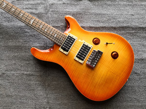 Custom 24 Sunburst Flamed Maple Top Guitar Reed Smith 24 frets China Made Electric Guitars