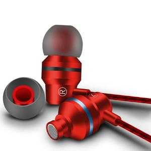 g60 cable de auriculares de 3,5 mm de frecuencias bajas línea recta subwoofer PC Headset deportes música de metal móvil auricular de teléfono en la oreja los auriculares con micrófono