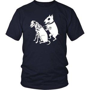 2.019 Homens de algodão Moda Verão Artista Tattoo Dog Estilo de Fitness Um único Pet T-shirt legal cómicos Inked Tattooed Casual Tee