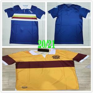 2020 2021 Motherwell Football Maillots Donnelly A.Campbell personnalisés 20 21 Ecosse Motherwell Domicile Extérieur Jaune Bleu Football Shirt Uniforme