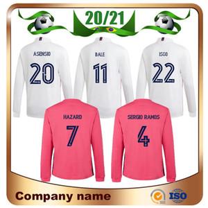 20/21 manches longues Real Madrid Accueil # 7 DANGER Football Jersey2020 Madrid RAMOS MODRIC Asensio Chemises CITP VINICIUS JR Football Uniforme