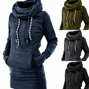 Turtleneck Pullover Robe Plain Thick Hoodies Poleron Mujer 2020 Warm Tunic Sweatshirt Embroidered Star Long Hoodie Dress Women