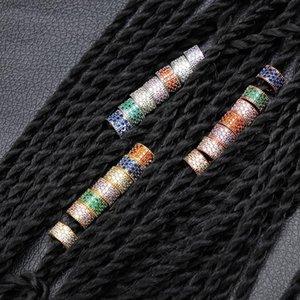 7pcs Hip Hop волос оплетки Кольца Loops заколки для волос Аксессуары DIY Цвет волос цвета серебра для мужчин женщин ювелирные изделия