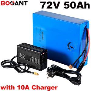 20S 17P 72V 50Ah motorino batteria al litio per Samsung 18650 cellule 5000w bicicletta elettrica + 100Amps BMS + 84V 10A caricatore