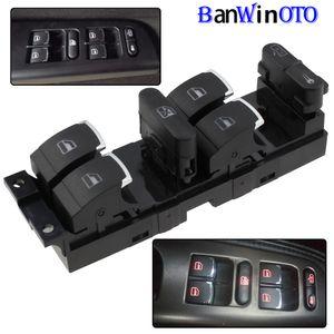 Chrome Master Window Выключатель контроллера для VW Jetta Golf GTI MK4 Passat B5 со стороны водителя 3BD959857 3BD 959 857 1998-2005 Banwinoto