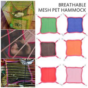 Summer Breathable Sandwich Mesh Pet Cat Ferrets Hammock Swing Hamster Mat Pet Cat Ferrets Bird Hanging Bed House
