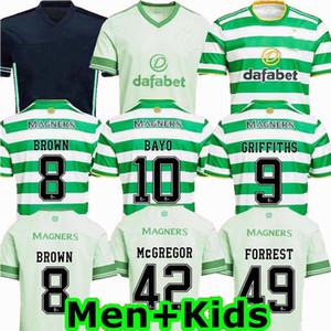 2020 2021 سلتيك لكرة القدم الفانيلة GRIFFITHS بيرنز BROWN المنزل بعيدا 3 20 21 رجلا كرة القدم والاطفال الفتيان قميص 4XL