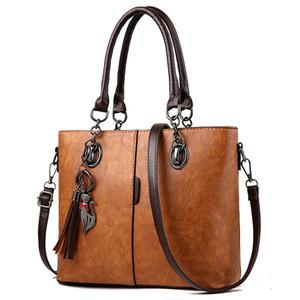 Bolso de cuero de lujo del mensajero del bolso de las mujeres bolso de diseño mano de las señoras de las mujeres del hombro Outlet Europa asas casual