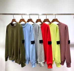 20SS Crewneck Толстовка с длинным рукавом Футболка Простой Твердая Толстовка Мода пуловер свитер Sportwear Streetwear