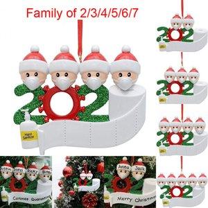ПОЗДРАВЛЕНИЯ рождественские украшения DIY изолятор Елочные украшения 2020 Партия Pandemic социальное дистанцирование Рождественская елка Подвеска аксессуары