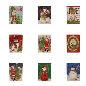 Christmas Wave Flag Xmas ПОТОЛКОВ Коридор Флаг отеля Торговый центр Home Рождественские украшения случайный цвет # 931