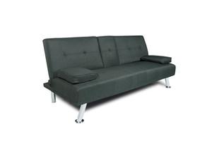 Livraison rapide gratuite canapé-lit futon TRAVERSE DARK GRAY avec coussin FABRIC oreiller multifonctions Salon Canapé W22303581