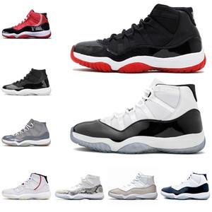 2021 Мужские 11 11s Баскетбольная обувь Белый разводной Конкорд Металлическая серебряная кепка и платье 25-летие Женщины Мужские Тренеры Спортивные кроссовки