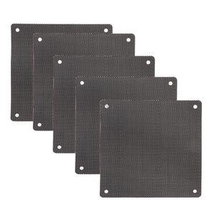 5PC 컴퓨터 메쉬 PVC 케이스 팬 먼지 필터 방진 커버 섀시 먼지 커버 12cm X 12cm