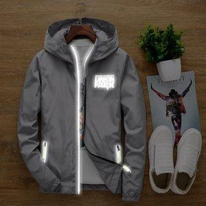S para 7XL plus size Linkin Park homens mulheres anti-vento camisola do hoodie luz-reflexivo treino zipper revestimento do revestimento