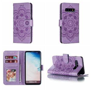 Cgjxs Datura Impressum Wallet Ledertasche für Huawei P30 Lite Mate-20 Pro Y7 Y6 Y9 2019 Nova 4-Blumen-Mandala-Karte Id Slot Spitze Flip-Cover Po