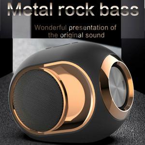 X6 بلوتوث 5.0 رئيس الذهبي البيض متحدث 108 ديسيبل الموسيقى TWS المحمولة اللاسلكية مكبرات الصوت للكمبيوتر الهاتف مقاوم للماء في الهواء الطلق معدن Soundbox