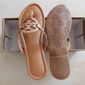 2020 Womens gg marchio Summer Beach Thong Sandali diapositive pistoni piani Womans Infradito tb lusso scarpe da donna di alta qualità TT