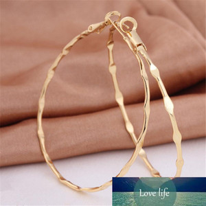 18K Yellow Gold Plated Big Hoop Earrings For Women Statement Classic Trendy Circle Earing Jewelry Bijoux Femme Gifts ER-947