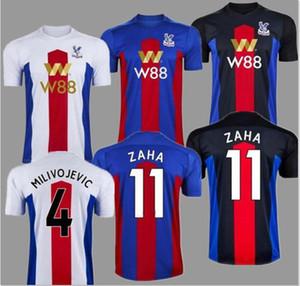 20 21 الكريستال لكرة القدم الفانيلة زها MILIVOJEVIC TOWNSEND ساخو BENTEKE 2020 2021 VAN AANHOLT كرة القدم قصر قميص الزي الرسمي تايلند