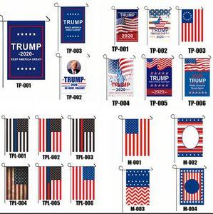Trump Флаг 30 * 45см Президент сад Флаги Keep America Great Banners Односторонний США Избирательного Патриотического украшение Байдена Баннер GGA3686