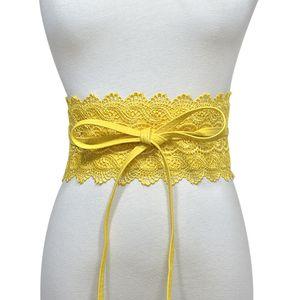 Fashion Lace Peplum Belt Women Dress Belt Candy Color Lace Waistband Girdle Slim dress belt Gifts Drop Ship45