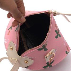 Diseñador de los bolsos women Impreso Triángulo de la linterna de bolsillo del bolso de la PU señoras Bolsa de lujo bolsos monederos nueva llegada de la venta caliente 3 color de la flor