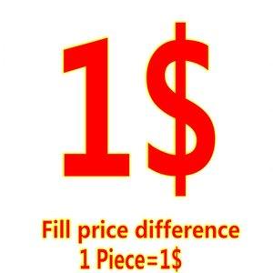 ملء فرق السعر لطلبك تعويض هذا الفارق لزيادة السعر 1 USD