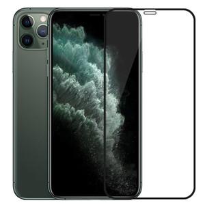 La pleine colle en verre trempé 3D 9H Plein écran Couverture anti-déflagrante Film de protection écran pour iPhone 12 Pro Max 11 XS MAX XR X GooPhone i12 i11