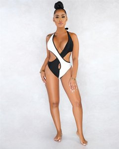 Designer Women Bathing Suit Womens Contrast Color Sling Swimsuit Tight Stitching Hollow Out Summer Bikini Fashion
