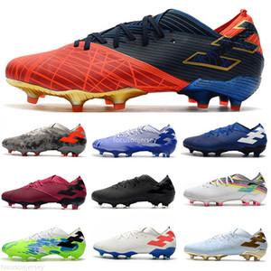 2020 Messi Nemeziz 19.1 FG Masculino Sapatos de Futebol Calçados de Futebol Sapatos de Futebol Chaussures Crampons de Futebol Botas X19 + Scarpe da Calcio 39-45