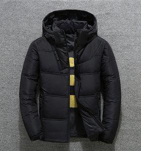 Новые зимние мужчины вниз куртки Parka сохраняют теплое пальто с мягким кошачьими шляпами толстые наружная одежда мужская куртка M-3XL
