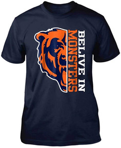 Belive Dans Monstres Ours Football Chicago Fan Mode T-shirt Homme Femme Graphic T-shirt