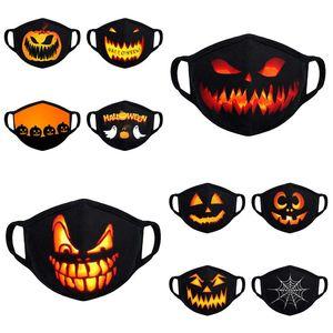 10 Styles Halloween Maske Kürbis 3D Printed Gesichtsmaske Schädel Waschbar Wiederverwendbare Breath Mouth Cover Designer MasksT2I51305 Maske