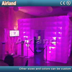 LED d'aria portatile gonfiabile Photo Booth Enclosure Inflatable professionale Photo Booth e la tenda gonfiabile del cubo per la festa nuziale (One Door)