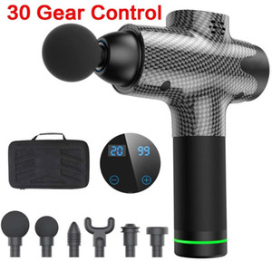 Massage Gun Percussion Massage with 30 Modes and 6 Heads Muscle Gun with Portable bag for Muscle Relaxation