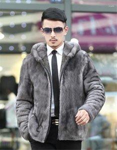 Faux manteaux de fourrure d'hiver épais à manches longues Slim capuche Vêtements pour hommes Casual Male Outerwears hommes __gVirt_NP_NN_NNPS<__ Designer