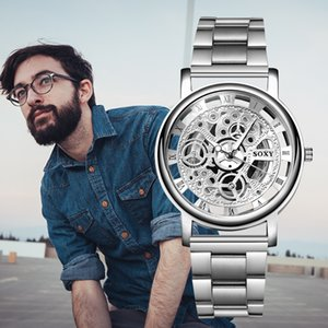 relogio masculino 2020 New Top Brand SOXY Wrist Watch Unique Style Men Quartz Watches Fashion Cool Hollow Designer Gentle Clock