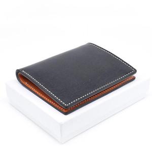 2020 Fashion genuine leather men wallet Leisure women wallet leather purse for men card holders wallet free C6209