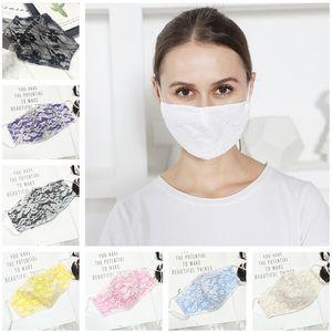 Женщины против Lace Украшение дышащие Прочные Covers дамы Dust Double Mask Top Прохладный Layer Face Мода Подарки Рот-муфельной Tmerg